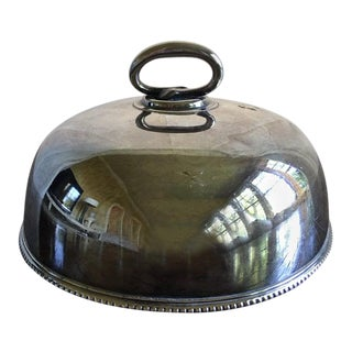 English Sheffield Silver Plate Food Serving Dome, Early 20th Century For Sale