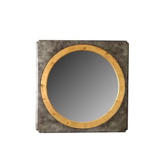 Henredon Silver & Gold Wood Wall Mirror