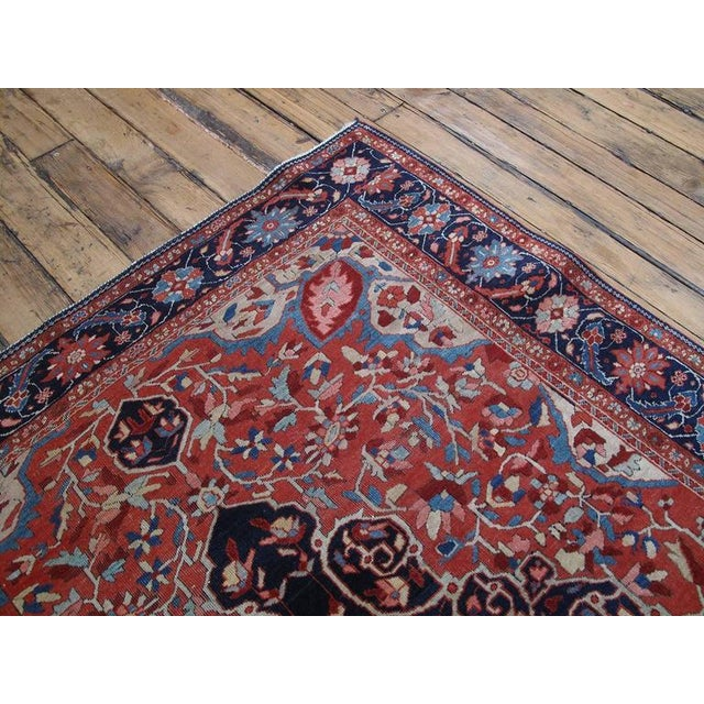 Islamic Antique Feraghan Sarouk Rug For Sale - Image 3 of 10