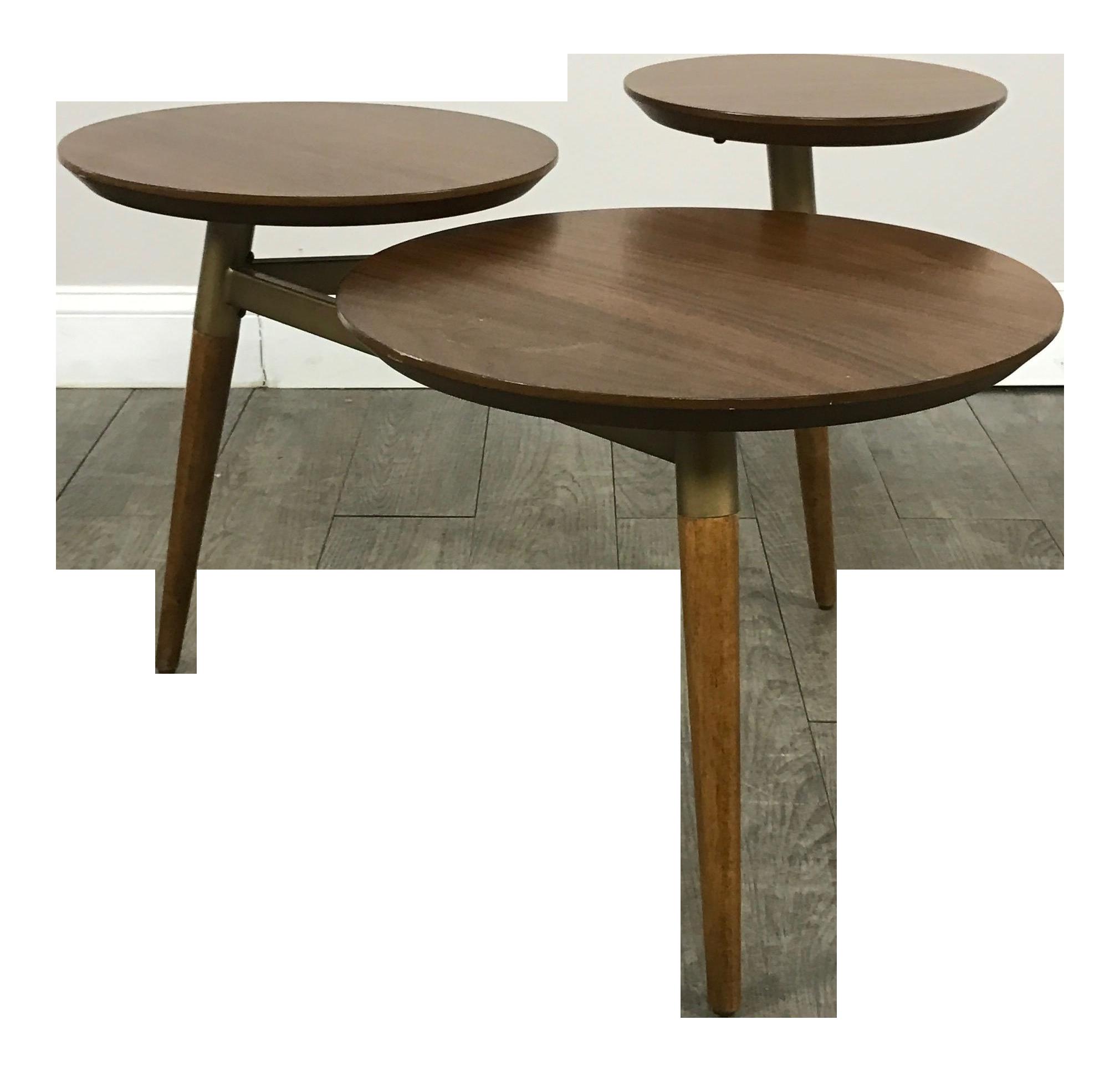 West Elm Mid Century Modern Tri Surface Coffee Table
