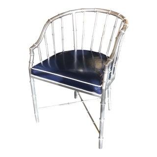 Silver Metal Bamboo Chair
