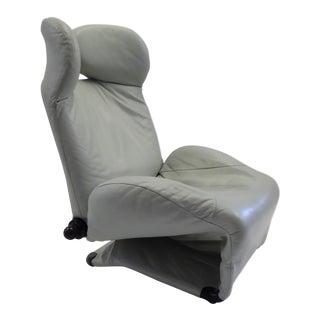 Toshiyuki Kita Leather Wink Lounge Chair for Cassina 1980