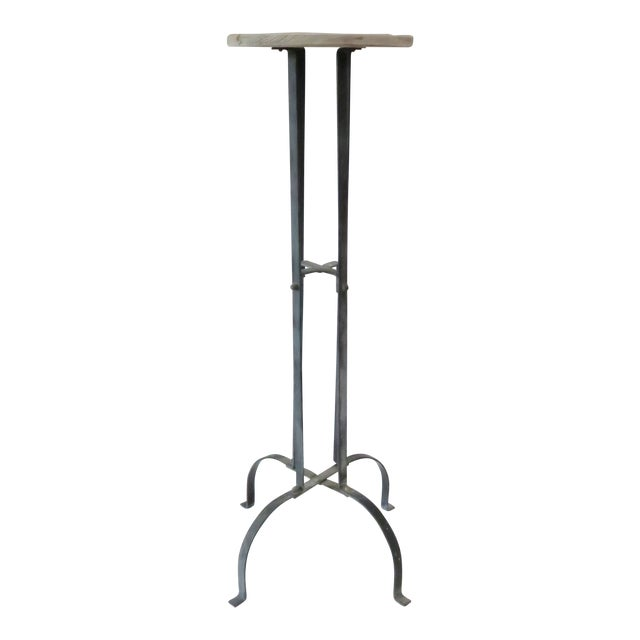 Vintage Wood & Metal Plant Stand - Image 1 of 6