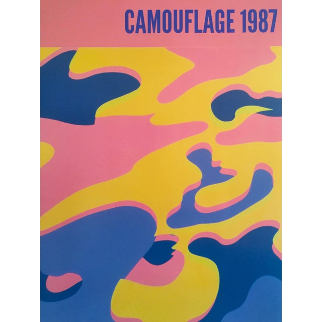 """Andy Warhol Original Lithograph Pop Art Poster """"Pink Camouflage"""" 1987 For Sale In New York - Image 6 of 10"""
