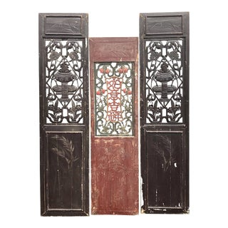 Antique Asian Wall Panels For Sale