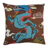 "Image of Magical Ming Dragon 20"" Pillow For Sale"