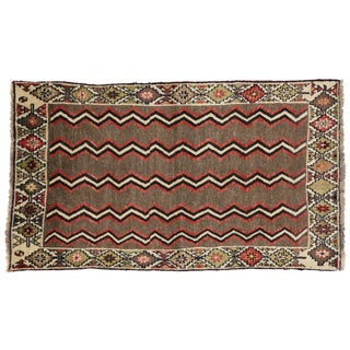 Vintage Persian Shiraz Rug With Mid-Century Modern Style - 3′3 × 5′7 For Sale