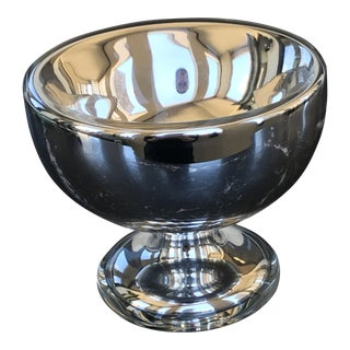 Mercury Glass Mini Planter / Candle Holder Chalice For Sale