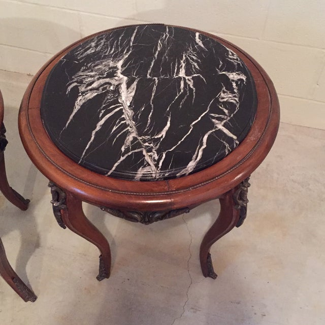 Antique French Side Tables - A Pair - Image 6 of 9
