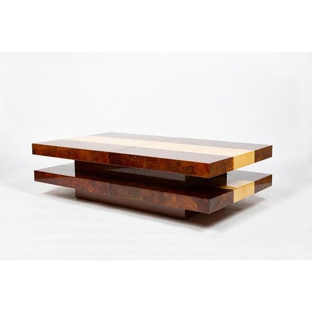 Italian Aldo Tura Bar Table For Sale - Image 3 of 12