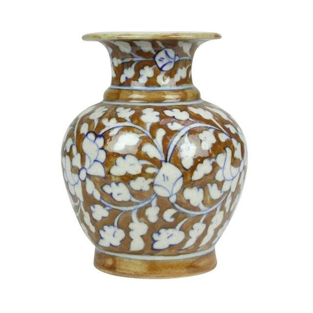 Boho Chic Small Jaipur Vase For Sale - Image 3 of 4
