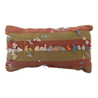 Vintage Turkish Rug Tassel Pillow For Sale