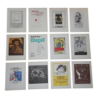 Vintage Mourlot Color Lithographs-Picasso Chagall Miro Braque Dufy - Set of 12 For Sale