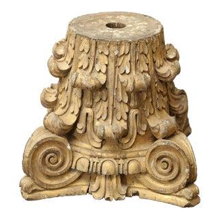 Carved Gilt Capital For Sale