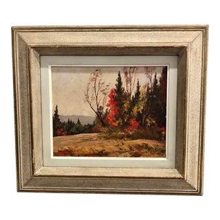 Vivian Walker 1903-1972 Canadian Impressionist Autumn Landscape Oil Painting For Sale