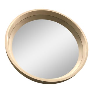 Mitchell Gold + Bob Williams Modern White Convex Mirror For Sale