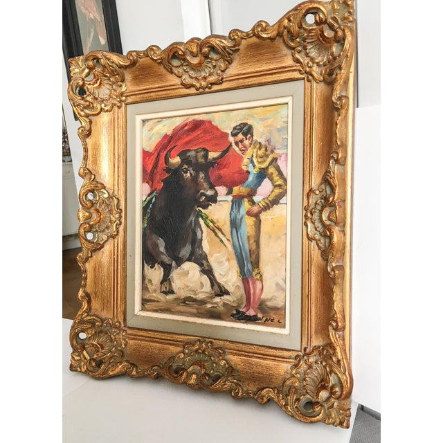 Antique Spanish Matador Oil on Canvas Painting For Sale In Richmond - Image 6 of 10