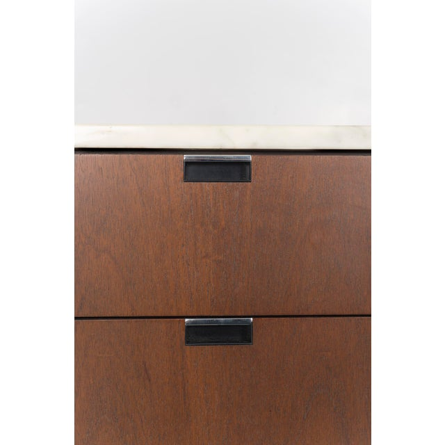 Marble Florence Knoll Marble Top Credenza For Sale - Image 7 of 10
