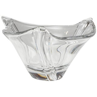 Elegant Daum Crystal Bowl, Modern/Transitional Style For Sale