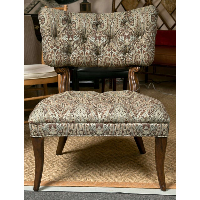 Kravet James Mont Style Lounge Chairs - Pair - Image 2 of 5