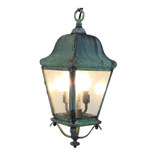 Hand Crafted Solid Brass Lantern For Sale