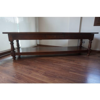 Large 19th Century Spanish Refectory Walnut Farm Draper´s Table or Console Preview