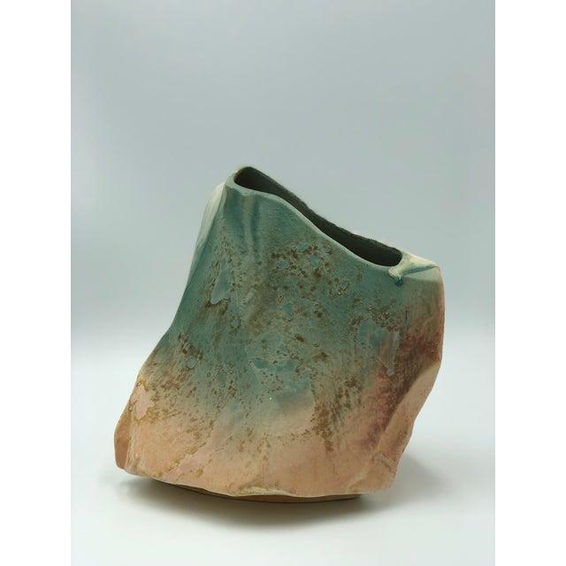Tony Evans Raku Pottery Vase For Sale In New York - Image 6 of 7