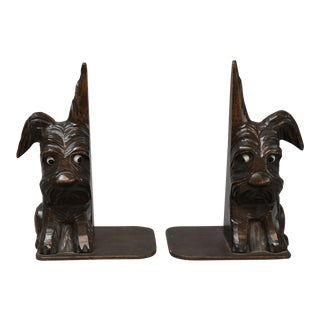 Black Forest Style Scottie Dog Bookends - a Pair For Sale