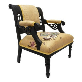 Antique Aesthetic Movement Armchair For Sale