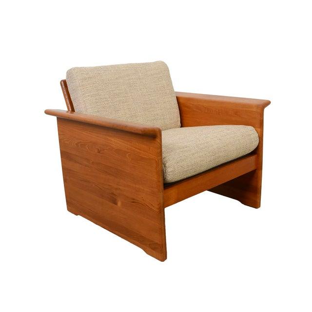 Fabric Tarm Stole Mid-Century Danish Modern Teak Chair For Sale - Image 7 of 7