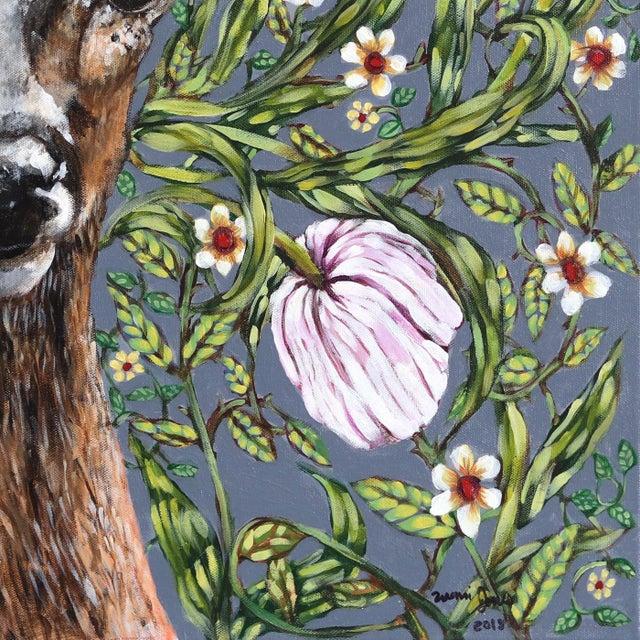 "2010s ""Deer"" Original Artwork by Naomi Jones For Sale - Image 5 of 9"