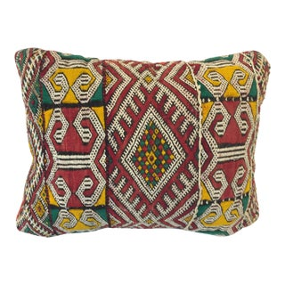 Moroccan Berber Tribal Pillow With African Designs For Sale