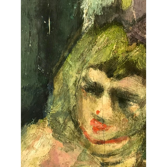 Late 20th Century Impressionist Portrait of a Girl - Oil on Board - Signed Lucas For Sale - Image 5 of 8