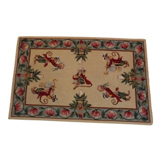 Vintage Monkey Playing Instruments Needlepoint/ Tapestry For Sale