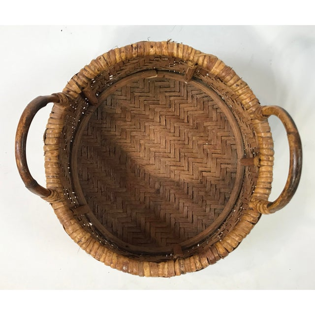 Early 20th Century Woven Wicker Basket For Sale In Kansas City - Image 6 of 7