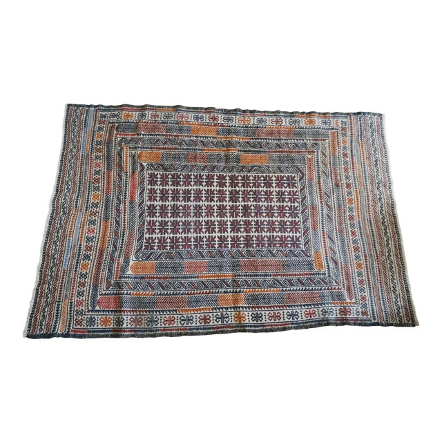 Vintage Turkish Kilim Rug - 3′11″ × 6′2″ - Image 1 of 7