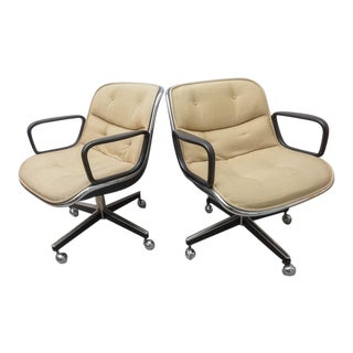 Pair of Charles Pollock for Knoll Executive Chairs, 1970s USA For Sale