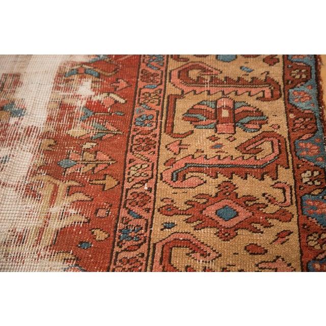 "Textile Antique Distressed Heriz Carpet - 9'7"" x 12'2"" For Sale - Image 7 of 7"