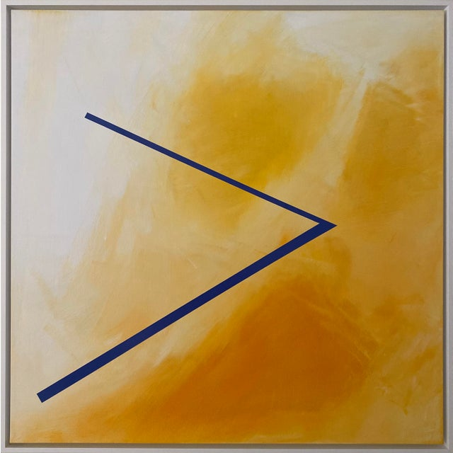 """Abstract Expressionist Axel Abbott Original Acrylic Painting """"Mood Lines Xiii"""" For Sale - Image 4 of 4"""