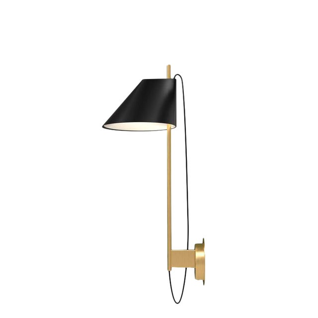 GamFratesi Black and Brass 'Yuh' Wall Light for Louis Poulsen For Sale