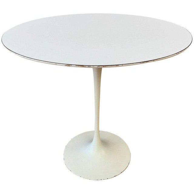 Early Eero Saarinen for Knoll Pedestal Collection Oval Side Table For Sale - Image 12 of 12