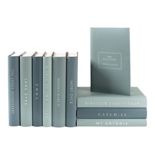 The Modern Classics Book Collection - Set of 10 in Greens For Sale