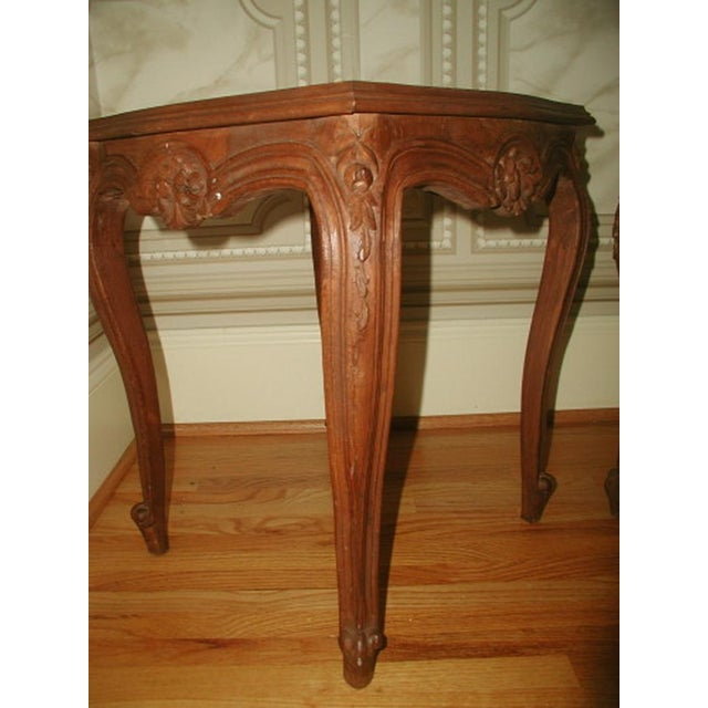 French 19th C. Walnut & Glass Tables - Image 5 of 7