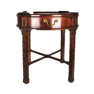 Baker Furniture Intricately Detailed Wooden Side Table - Master Craftsman Heirloom