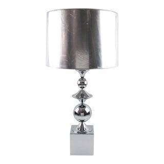 Maison Barbier France 1970s Space Age Chrome Table Lamp For Sale