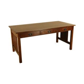 Stickley Mission Collection Oak Spindle Desk For Sale
