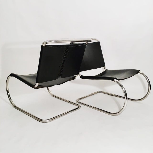 Animal Skin Pair of Mies Van der Rohe MR Lounge Chairs For Sale - Image 7 of 7