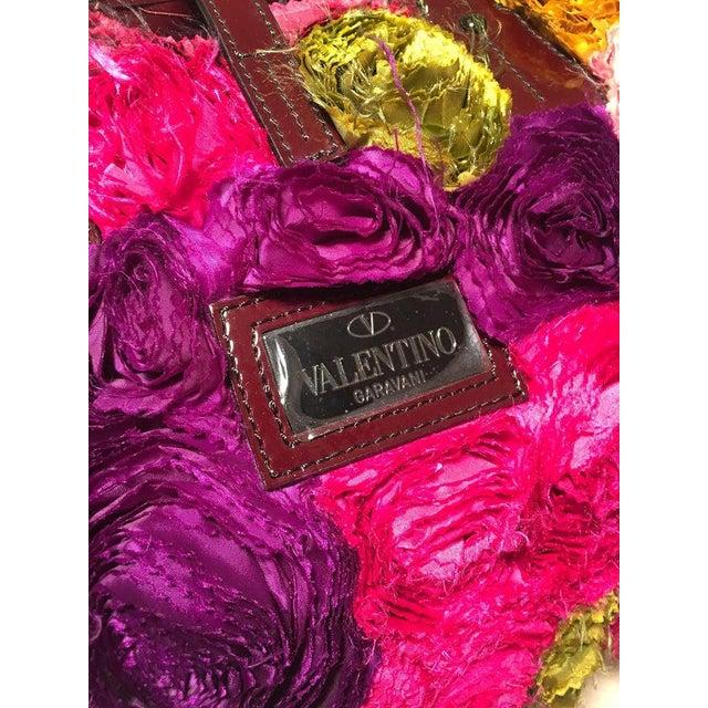 Valentino Multicolor Silk Rosier Rosettes Tote Bag For Sale - Image 9 of 10