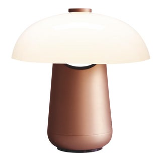 Contardi Ongo Metal Table Lamp, Copper and White For Sale