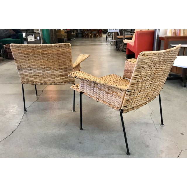 Van Keppel Green Rattan & Iron Chairs - A Pair - Image 6 of 11